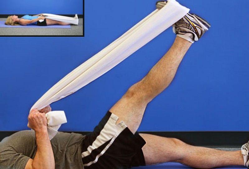 کشش عضلات همسترینگ