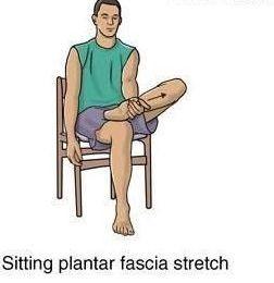 کشش کف پا در حالت نشسته