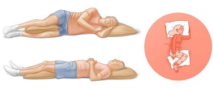 روش صحیح خوابیدن برای دیسک کمر